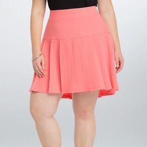 Torrid Coral Pleated Mini Skirt Plus Size 18